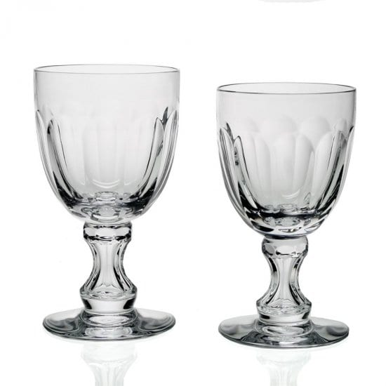 Set of Two Crystal Beer Chalices