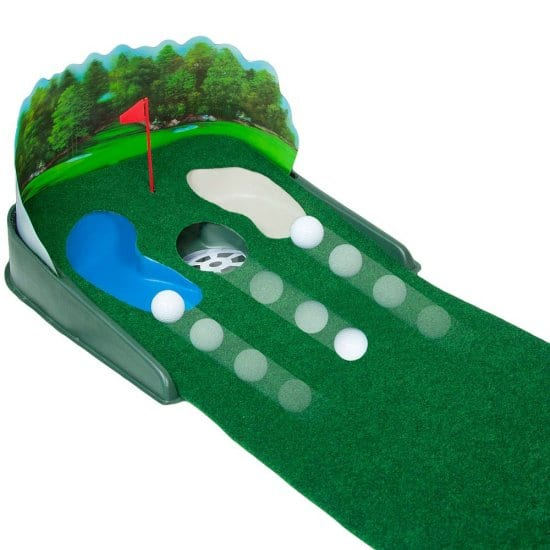 Electronic Putting Green with Ball Return