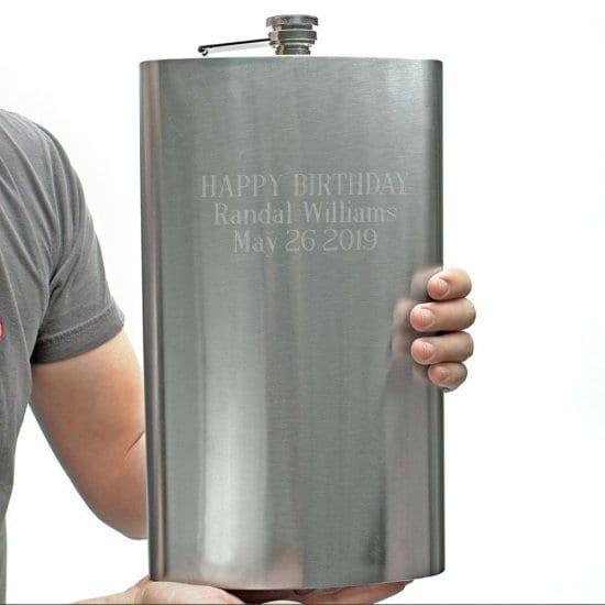 6 Month Anniversary Extremely Large Flask Gift for Him