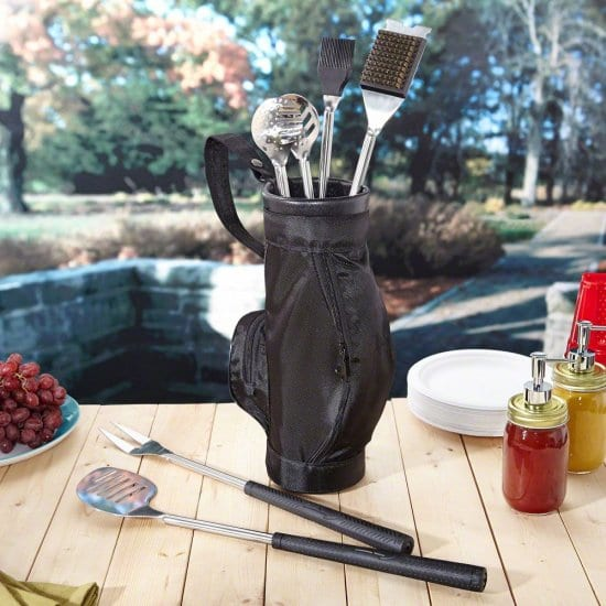 Golf Club Grilling Tools with Caddy