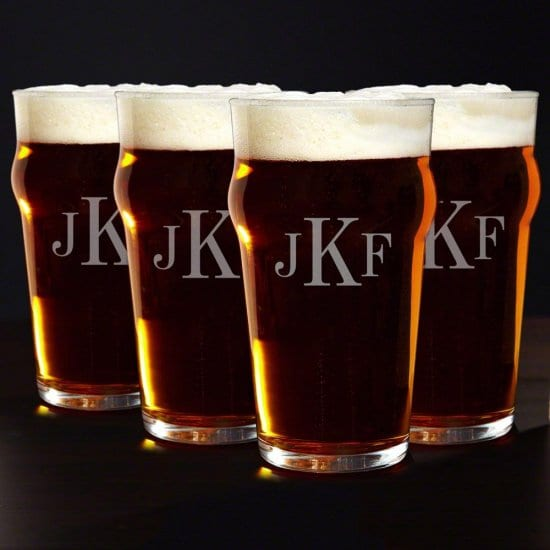 English Pub Beer Glasses Set of 4