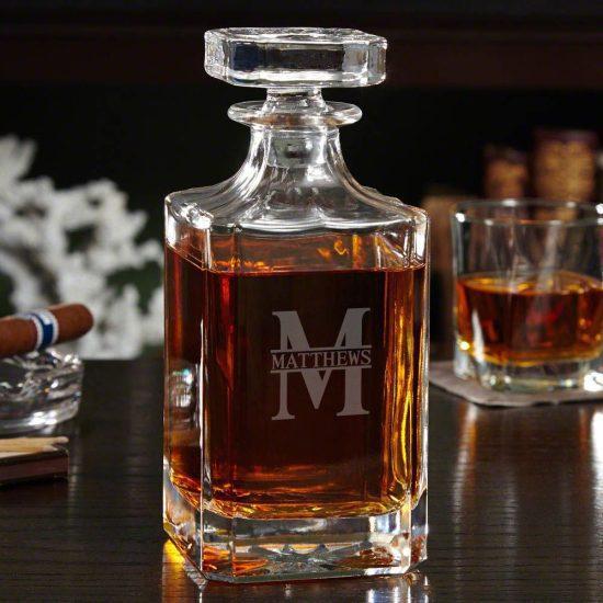 Personalized Bourbon Decanter