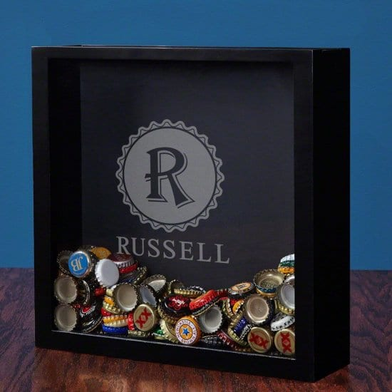 Beer Bottle Cap Shadow Box