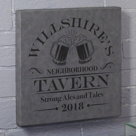 Ales and Tales Leatherette Canvas Bar Sign
