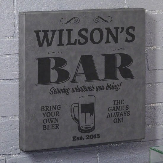 Personalized Bar Sign