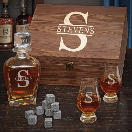 Personalized Whiskey Gift Set for Old Men