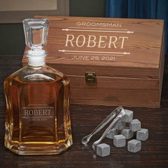Bourbon Decanter and Stone Set