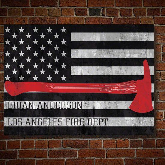Engraved Firefighter Sign
