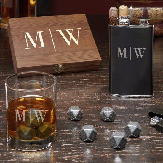 Christmas Gift for Boyfriend Whiskey Flask Set