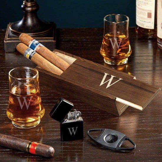 Unique Whiskey Tasting Glasses and Cigar Gift Set