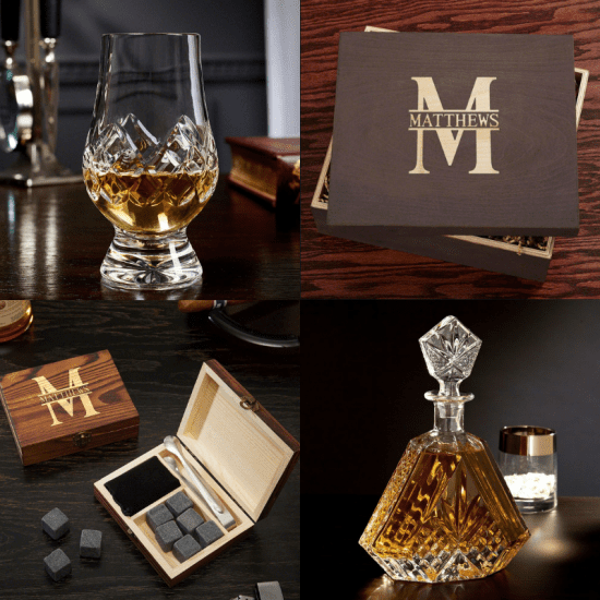 DIY Crystal Glencairn Bourbon Gift Set