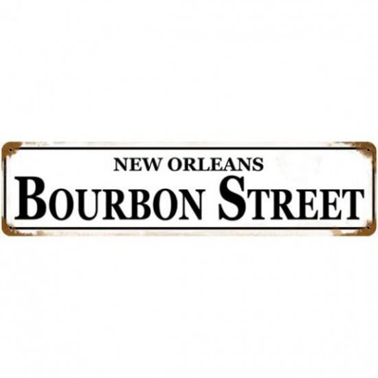 Bourbon Street Sign Whiskey Drinker NOLA Indoor//Outdoor Double Sided