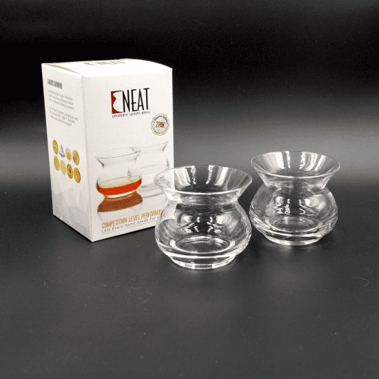 Set of Two Neat Glass Whiskey Tasters