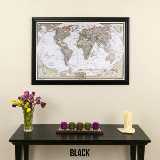 World Travel Map One Year Anniversary Gift