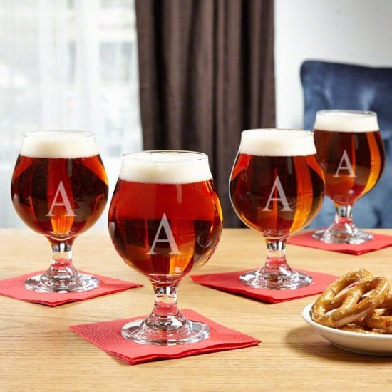 Personalized Beer Snifter, Set of 4 Craft Beer Gift