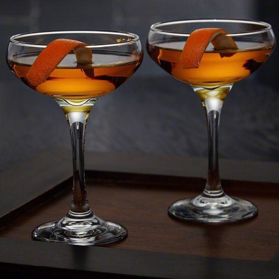 Two Coupe Vodka Glasses