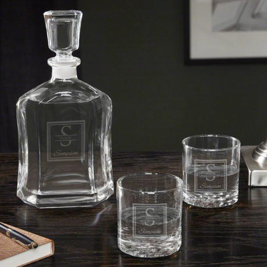 Vodka Decanter and Vodka Glasses