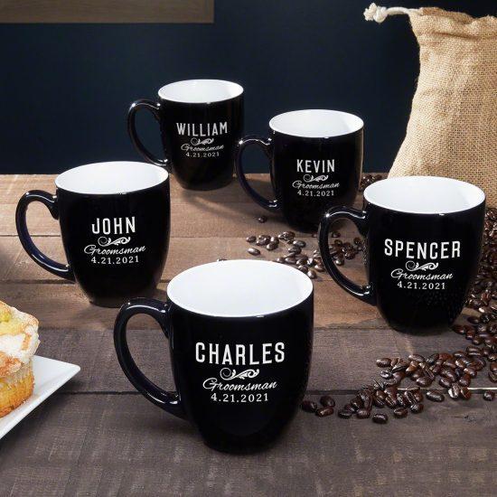 Set of Five Coffee Mugs