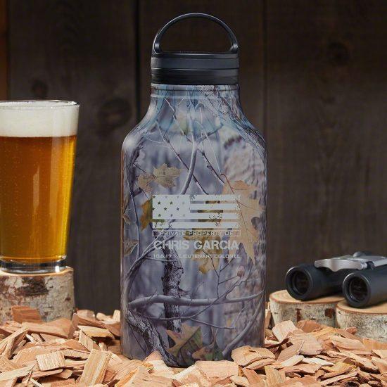 Camo Growler Gift for Outdoorsmen