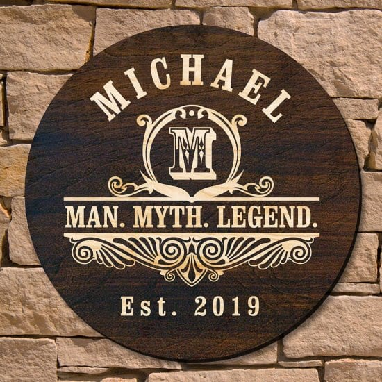 Personalized Wooden Sign Christmas Gift Idea for Him
