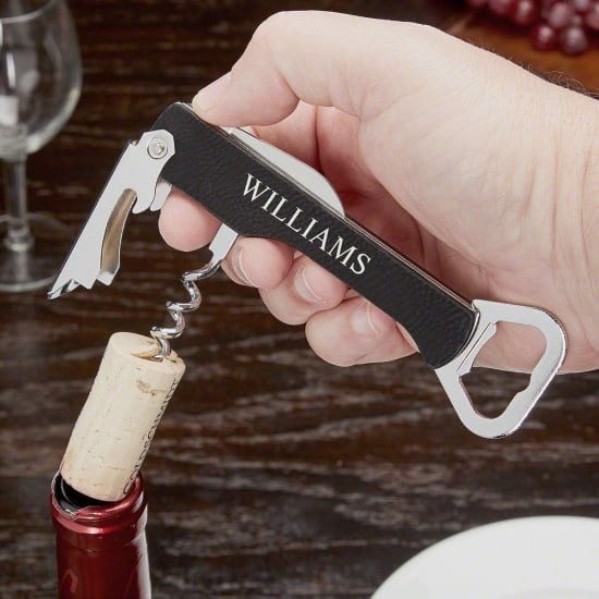 Black Corkscrew Inexpensive Gift for Coworkers
