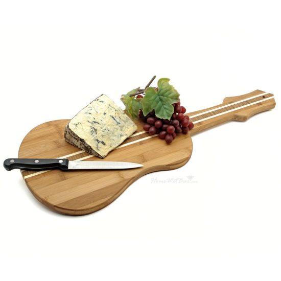 Bamboo Guitar Cheese Boards