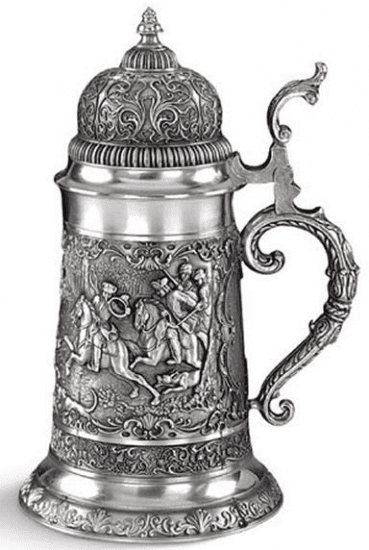 Ornate Pewter Beer Stein