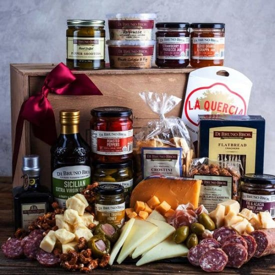 Cheese and Meat Foodie Gift Basket