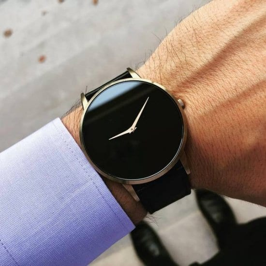 Black Men's Watch Wedding Gift for Grooms