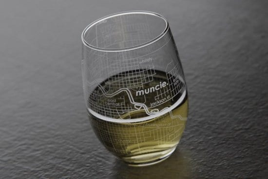 White Wine Map Glass