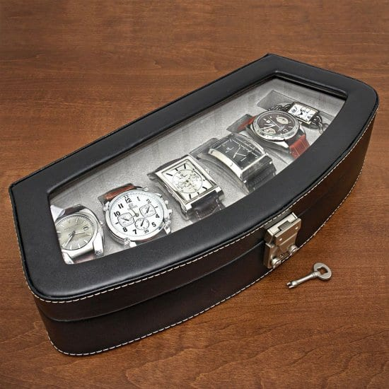 Italian Leather watch Case Unique Gift for Guys