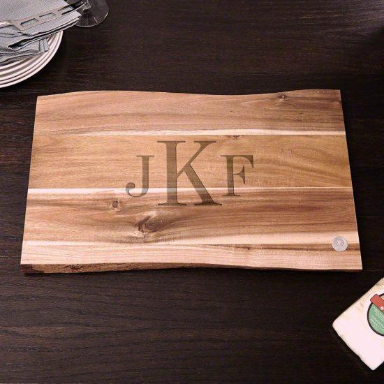 Monogrammed Wooden Cutting Board