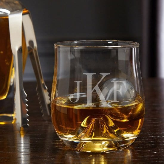Monogrammed Glass with Stainless Steel Chilling Ball