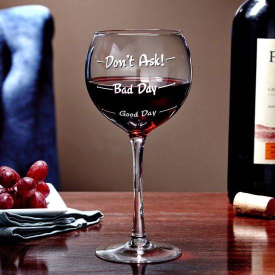 Funny Wine Measuring Glass