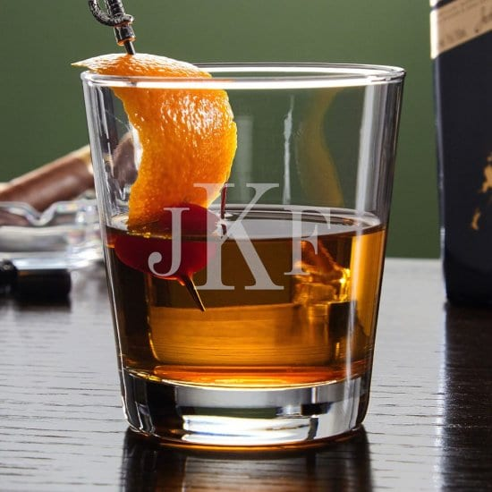 Monogrammed Cocktail Glass