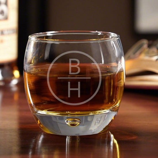 Monogrammed Whiskey Glass