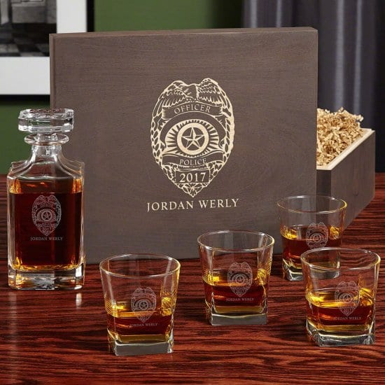 Custom Whiskey Gift Sets Gifts for Cops