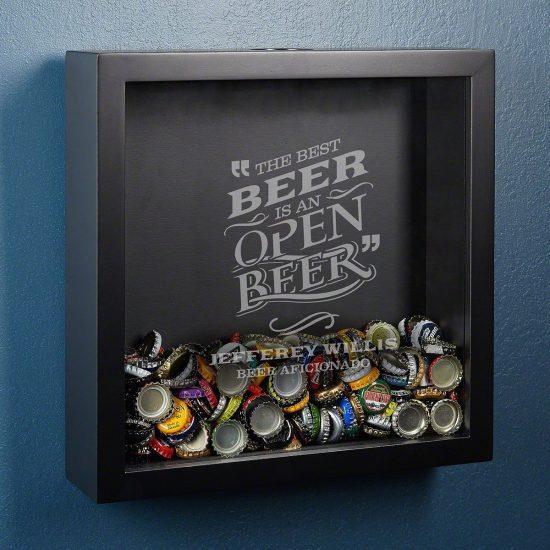 Beer Bottle Cap Shadow Box