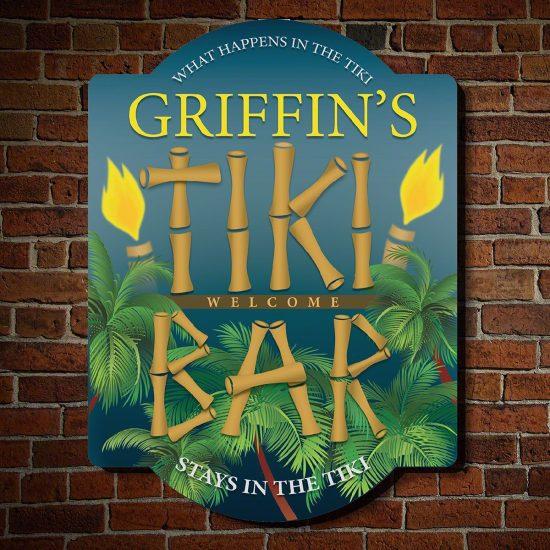 Custom Wood Tiki Bar Sign