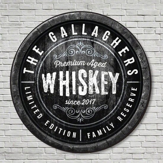 Family Reserve Whiskey Sign Cool Gift for Guys
