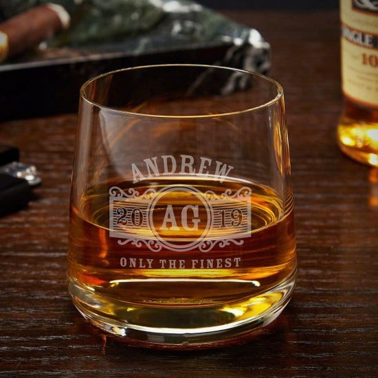 Vintage Personalized Old Fashioned Glass