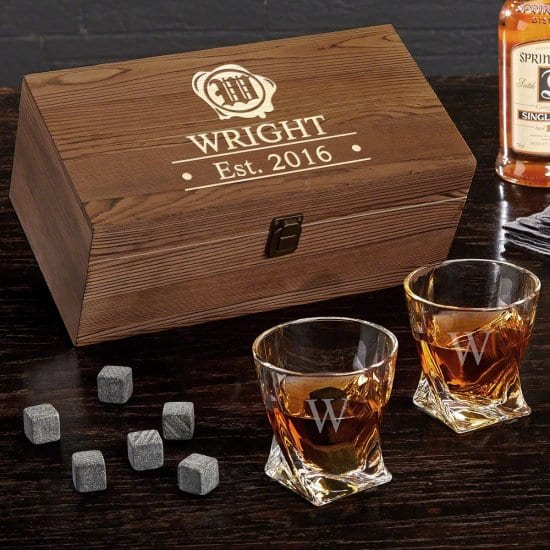 Twist Whiskey Glass Gift Box