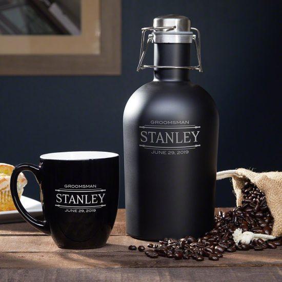 Engraved Growler and Coffee Mug