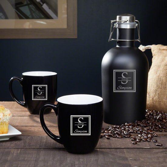 Custom Coffee Mug Set is a Personalized Gift for Boyfriend