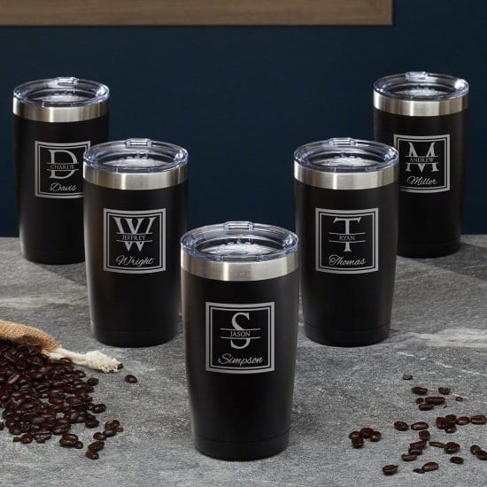 Personalized Coffee Tumbler Set of 5