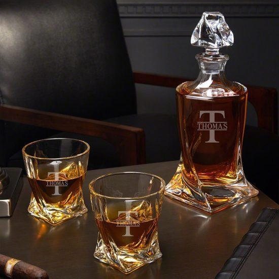Custom Twist Decanter Whiskey Set