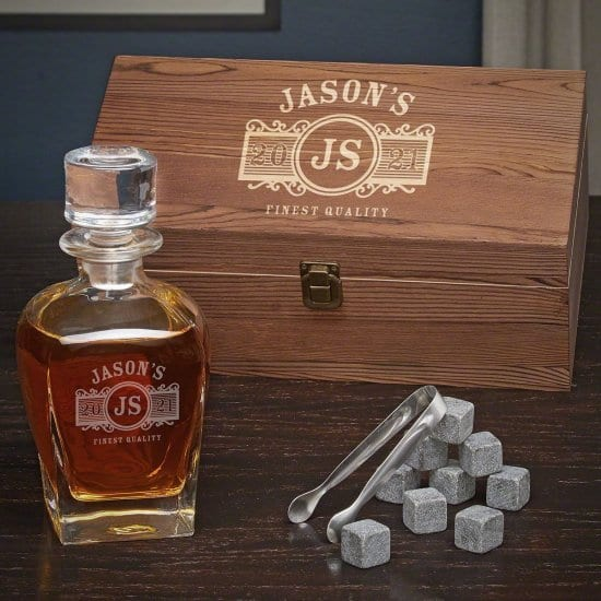 Engraved Decanter Set is a Personalized Gift for Boyfriend