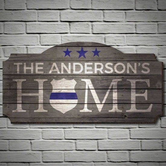 Customized Police Officer Home Sign