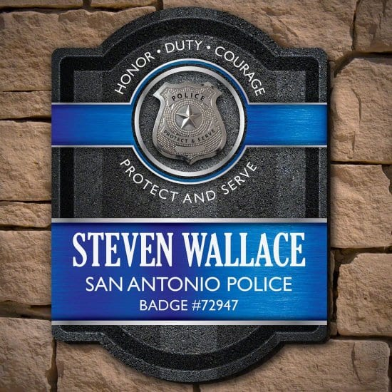 Custom Sign for Police Officers