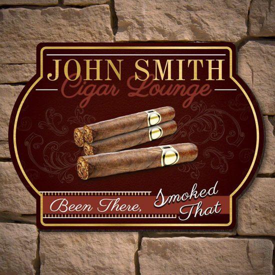 Funny Cigar Lounge Sign